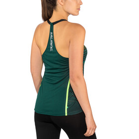 Salming Breeze Tanktop Dames, deep teal aop/sharp green